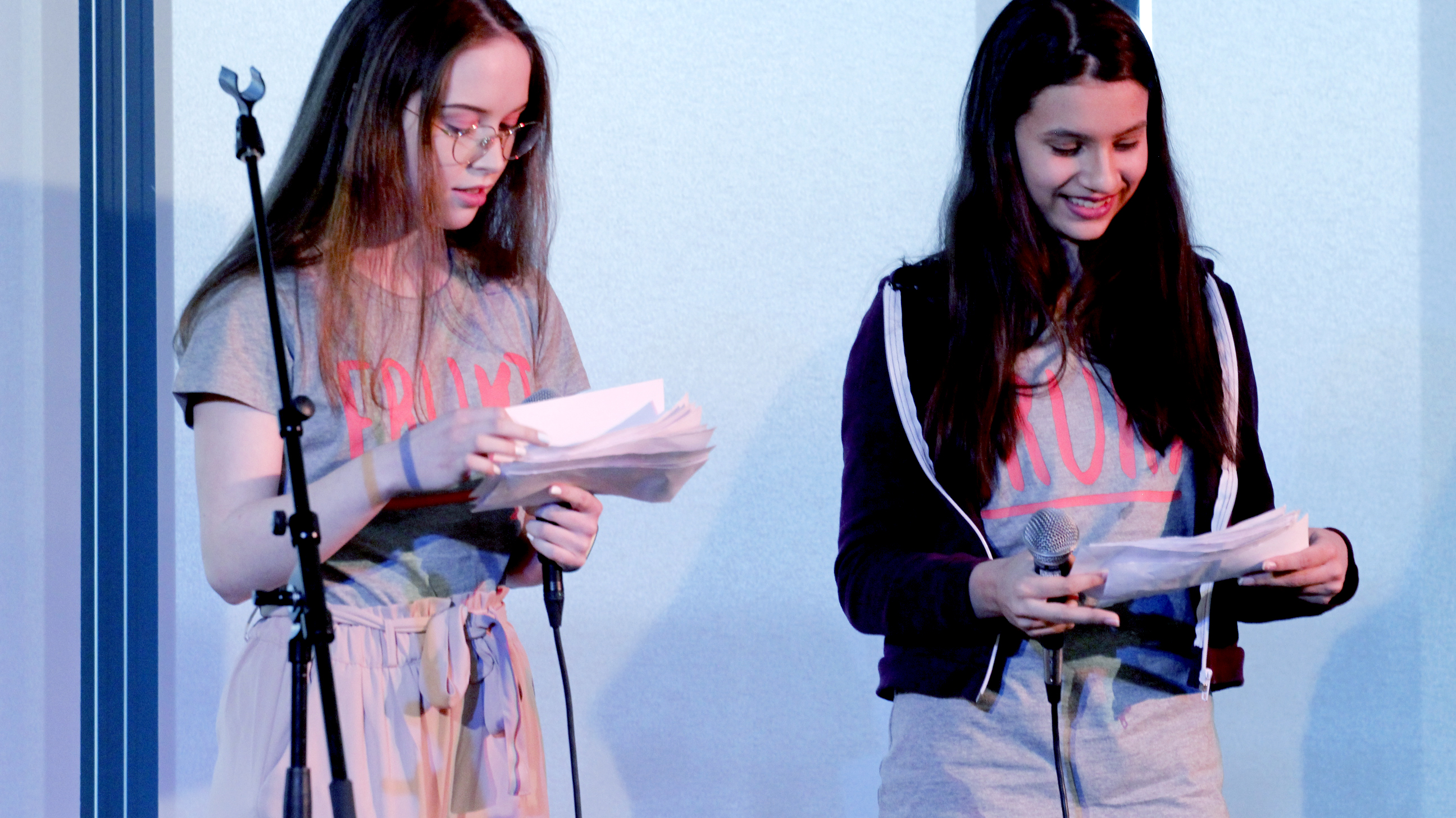Emilie og Ella var konferansierer